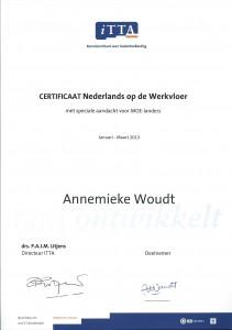 Certificaat NLodW, ITTA