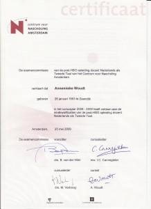 Certificaat NT2
