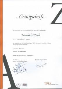 Certificaat TPRS-docent 2014