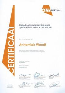 Certificaat begeleider ONA, ITTA